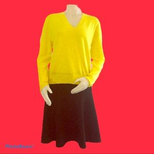 J. Crew Yellow Sweater Medium New